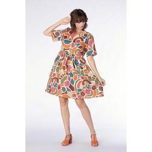 NWOT Princess Highway Geo Print Smock Dress